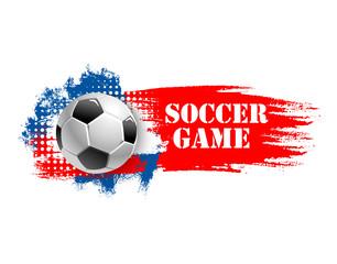 Soccer game team club football ball vector icon