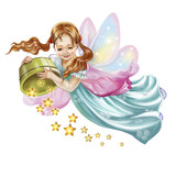 Fairy Scatter Stars Wall Sticker