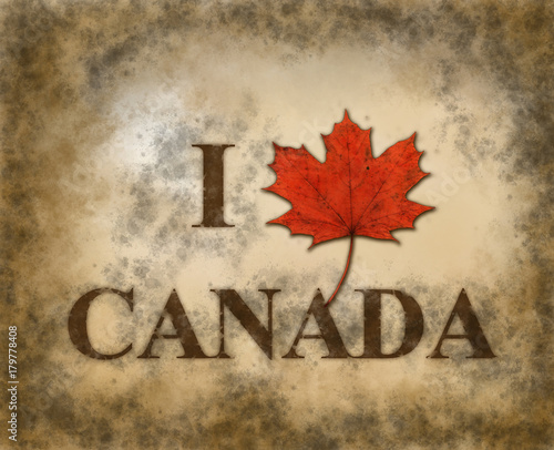 Foto op Plexiglas Canada i love canada