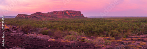 Foto op Canvas Crimson Nourlangie Rock Sunset, Kakadu National Park, NT