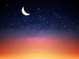 Purple sky in twilight dark night.