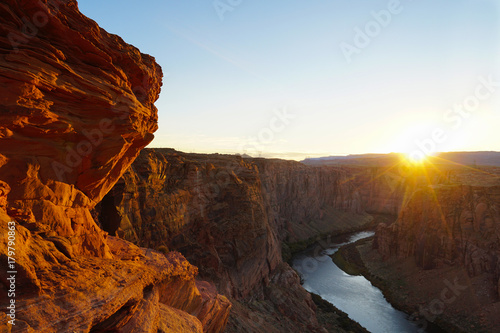 Fotobehang Bruin Sunset ove Glen Canyon