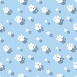 Animal Paw Print Symbol Seamless Pattern