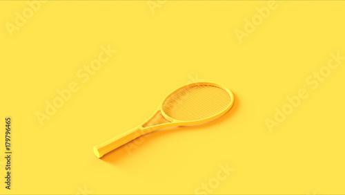 Żółty rakieta tenisowa