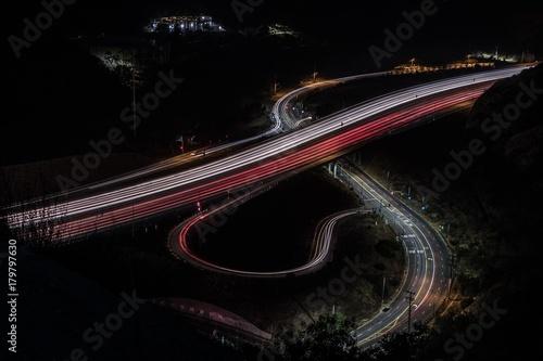 Fotobehang Nacht snelweg The 405