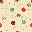Seamless Space Pattern with Planets, Stars and etc - 179798291