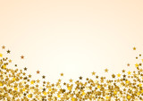 Festive horizontal Christmas background with copy space. Golden stars on white - 179799667
