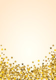Festive vertical Christmas background with copy space. Golden stars on white - 179799673