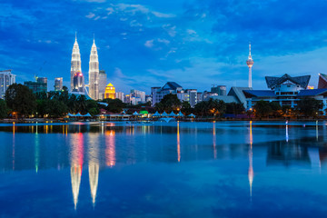 Kuala Lumpur skyline with
