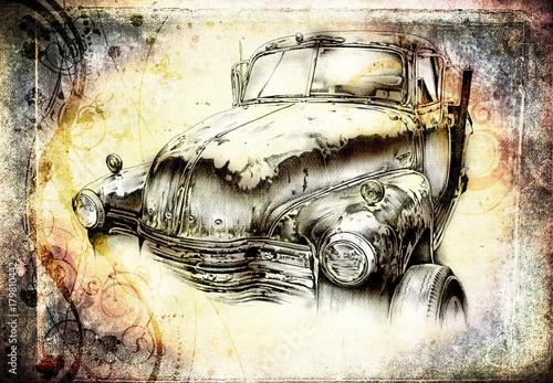 stary-klasyczny-samochod-retro-vintage