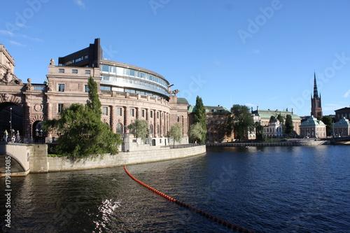 Staande foto Stockholm arched passageway in the Riksgatan district of Stockholm, Sweden