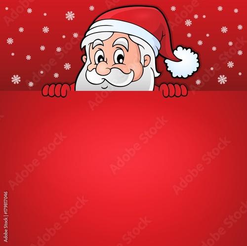 Papiers peints Enfants Lurking Santa Claus with copyspace 7