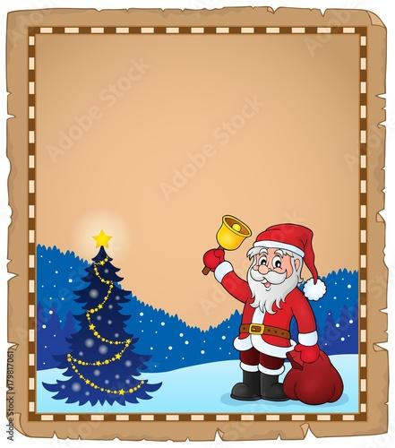 Papiers peints Enfants Santa Claus with bell theme parchment 5