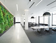 Vertical green wall in modern office building