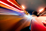 Car on the road with motion blur background. - 179823825