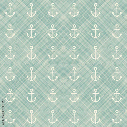 Cotton fabric abstract geometric retro seamless polka dot background with anchors