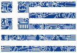 Flag of Greece from its traditional symbols
