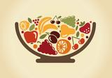 Bowl  Fruit Wall Sticker