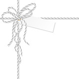 Background with bakers twine bow and ribbons - 179841413