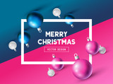 An abstract Christmas Design with 3D effects and room for promotion / holiday messages. Vector illustration