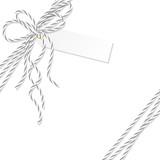 Background with bakers twine bow and ribbons - 179841436
