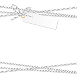 Background with bakers twine bow and ribbons - 179841469
