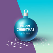 Christmas Bauble 3d Effect  Room For Retail Or Personal Message  Illustration Sticker