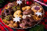 fresh and tasty Christmas cookies - 179842649