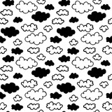 Vector seamless pattern with clouds - 179843054