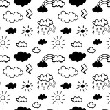 Vector seamless pattern with clouds - 179843070