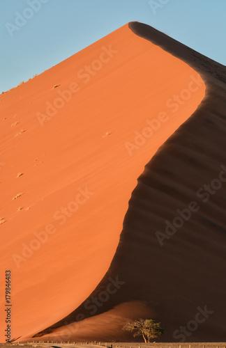 Poster Oranje eclat Dune in Namibia