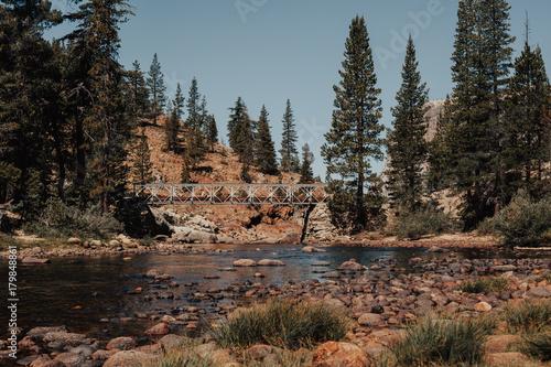 Fotobehang Grijze traf. Glen Aulin waterfall in Yosemite National Park