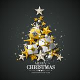 Luxury Christmas greeting card - 179850092