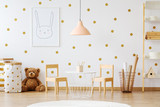 Teddy bear in child's room - 179855622