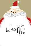 Christmas Greeting Card With Santa.