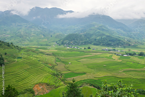 Foto op Plexiglas Rijstvelden Mu Cang Chai Sapa, Vietnam