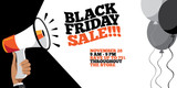 Black friday sale background. For the friday after Thanksgiving. EPS 10 vector. - 179869034
