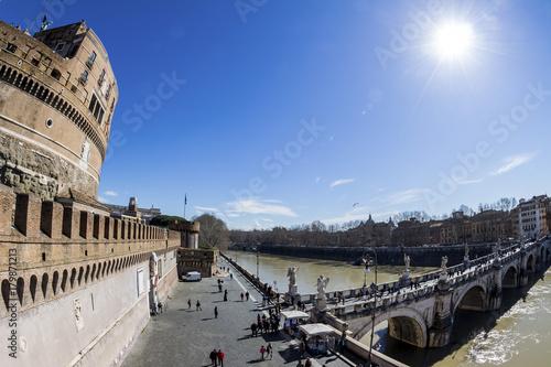 Deurstickers Rome rome. ponte sant'angelo