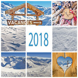 2018 winter holiday in France collage - 179879047