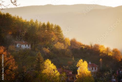 Foto op Plexiglas Beige Mountain home