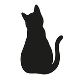 silhouette of a cat on a white background