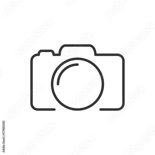 Fototapeta Photo camera silhouette, icon