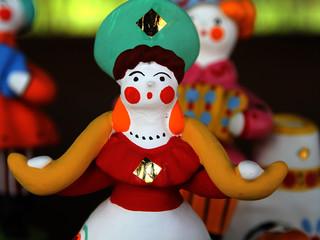 Ceramic doll woman