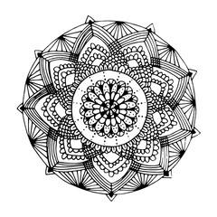 Indian mandala in hand drawn style