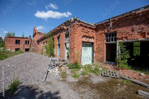 Foto op Canvas Oude verlaten gebouwen Abandoned match factory in Mäntsälä, Finland