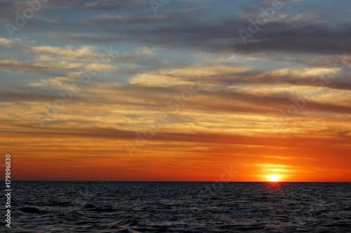 Fotobehang Zee zonsondergang Costa Ricasn sunset