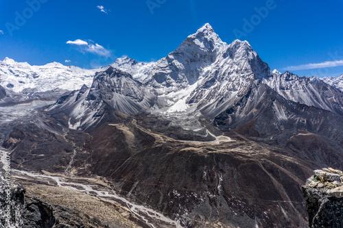 Staande foto Lavendel Dingboche, Nepal