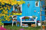 Herbstdekoration im Garten