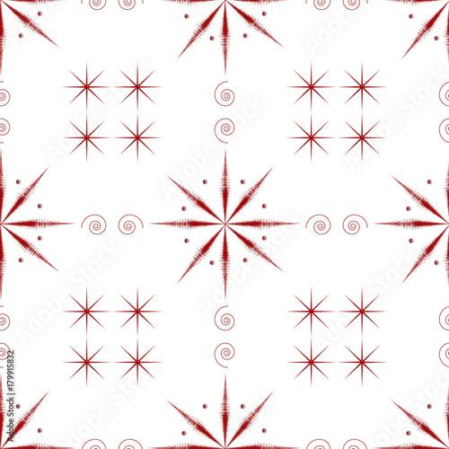 Pattern Natalizio Con Stelle Rosse Su Sfondo Bianco Buy Photos
