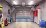 garage interior 3d illustration - 179917827